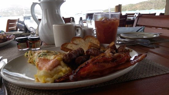 North Sound, Virgen Gorda: You must start each morning with a hearty breakfast