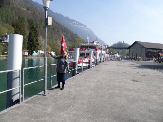 Brienz, Sveits: The cruise jetty