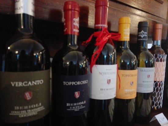 Magione, Italy: I vini degustati