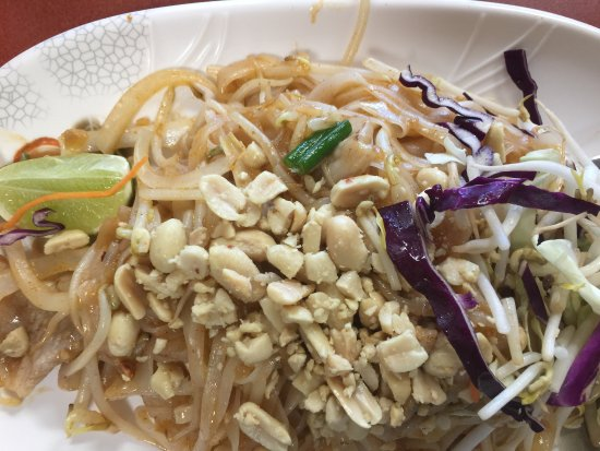 Blacksburg, VA: Pad thai ordered mild heat with pork