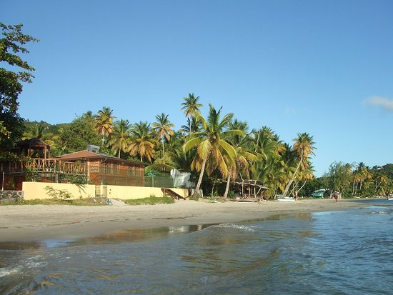 Laborie, Saint Lucia: VIEW FROM THE SEA
