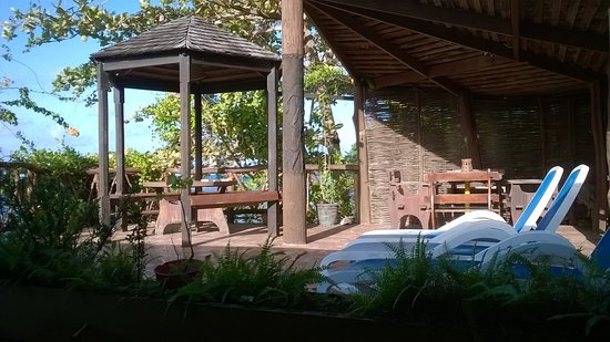 Laborie, St. Lucia: Terrace of Sea View Apart,35 square meters, with direct and pricvate access on the beach.