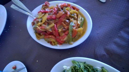 La Playa: baccalà con peperoni