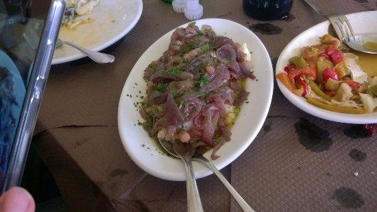 Morra De Sanctis, Italy: baccalà con cipolle