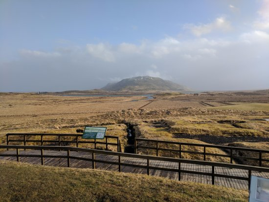 Fludir, Iceland: View from front of cathedral