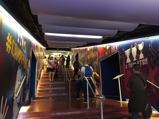 Tunnel at Camp Nou