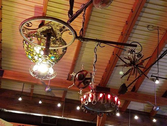 Bristol, VA: The overhead light, chandelier or mobile very primitive artsy steampunk