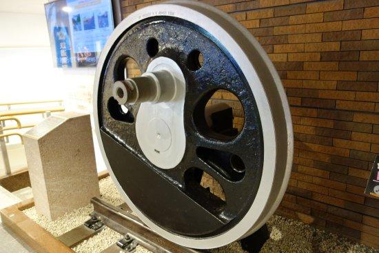 Train Wheel of C58 Steam Locomotive No. 140