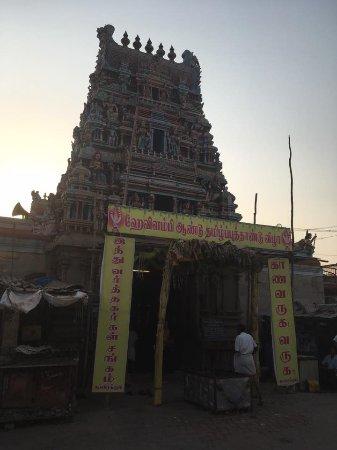 Karaikudi, India: Koppudayamman Temple entrance
