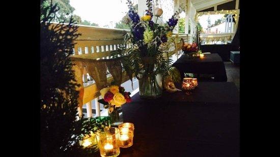 Eumundi, Australia: Upstairs Verandah ready for a function