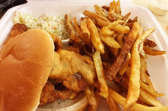 Lemoyne, PA: Fried fish sandwich with French fries