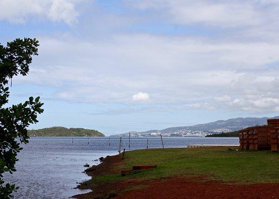 Trois-Ilets, มาร์ตินีก: View back across to cruise dock