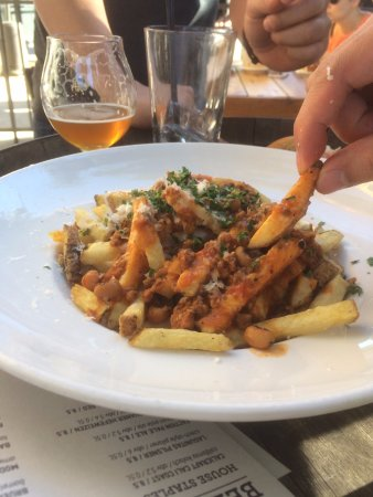 Lamb Fries Picture Of Steins Beer Garden Mountain View Tripadvisor