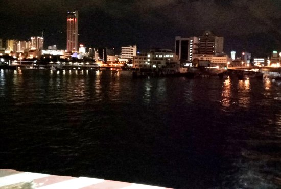 Penang Ferry Service : Night Scene from Penang Ferry