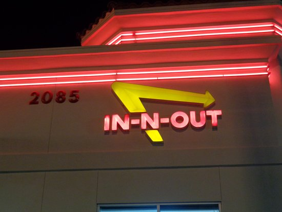 In-N-Out Burger: sign