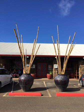 Kilauea, HI: Kong Lung Trading from parking lot