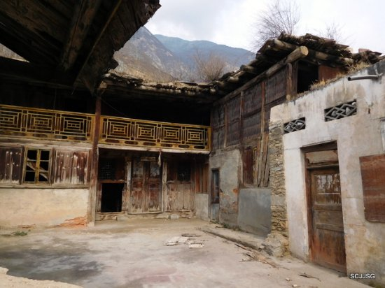 Mao County, Cina: The old houses that weren't destroyed