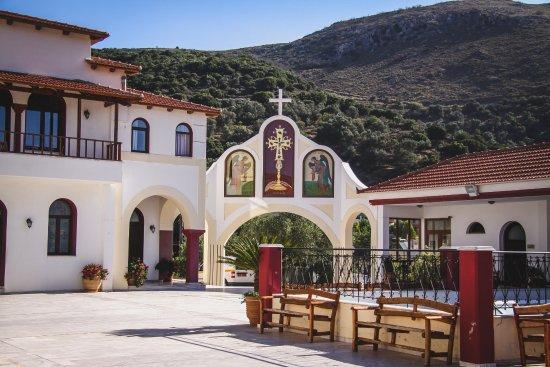 Spili, Grecja: внутренний дворик