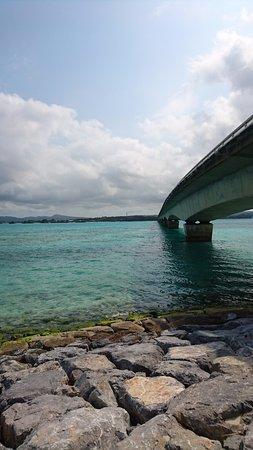 Nakijin-son, Japan: なんか天空にかかっているような感じがロマンチック