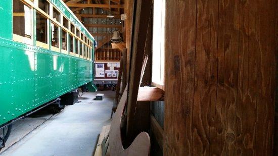 Laws Railroad Museum: Self-propelled trolley car.