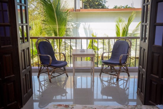 Ashvem Beach, India: Balcony