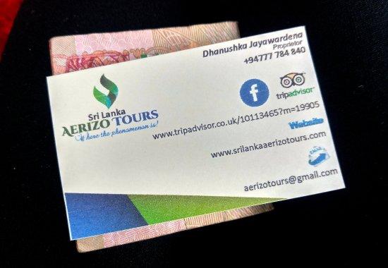 Aerizo Tours Business Card Picture Of Srilanka Aerizo Tours