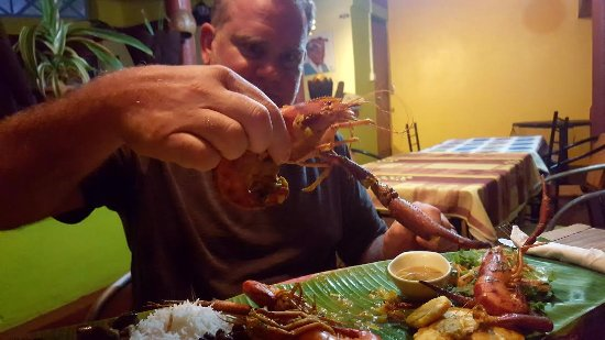 Calibishie, Dominica: huge freshwater crayfish