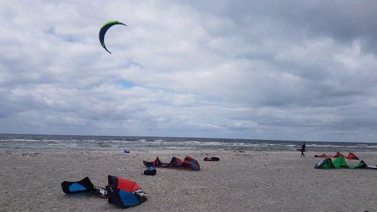Skanor, السويد: Uitzicht op de zee vanuit het restaurant