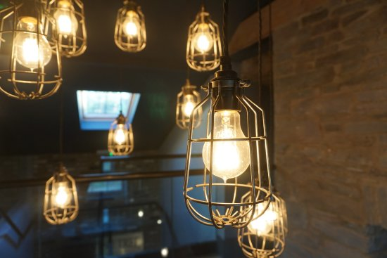 Llangattock, UK: The Gallery Lighting