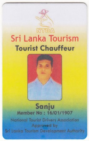 Tours in Sri Lanka with Sanju - a chauffeur