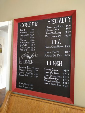 Sperryville, VA: Chalk board menu