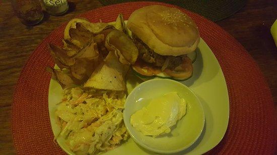 Angle Bar: Beef burger