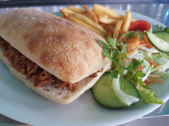 Georges Seafront Restaurant Now Serving Pulled Pork Ciabatta