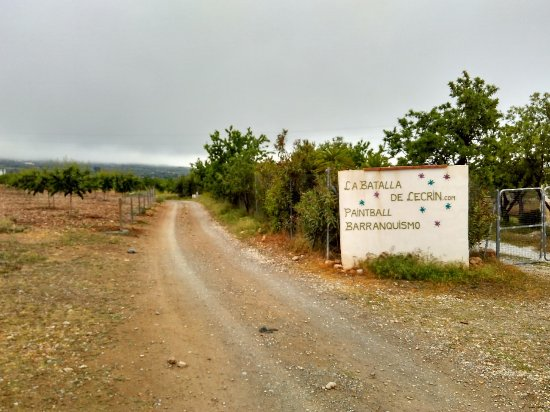 Durcal, Spania: View as you approach the Paintball Site.