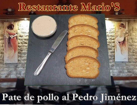 Palma Del Rio, Spain: Paté de pollo al pedro Jiménez casero