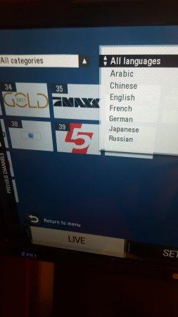 Best Western Plus Amedia Berlin Kurfuerstendamm: lingue proposte nel menu televisore