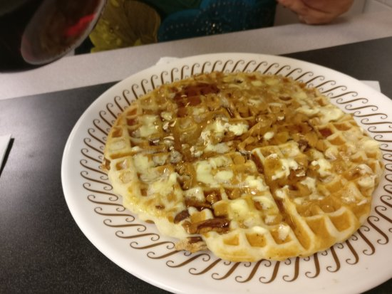 Covington, KY: Pecan Waffle with Peanut Butter