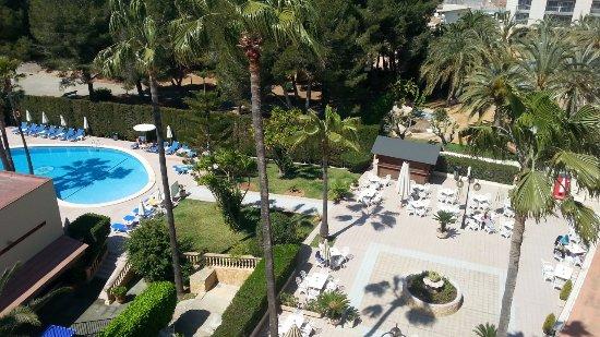 Hotel Metropolitan Playa : Zimmer 501 mit Pool/Gartenblick