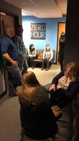 Zero Hour Escape Rooms: Waiting in the lobby at Zero Hour