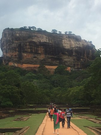 Citadel of Sigiriya - Lion Rock: Path through the gardens to the rock fortress