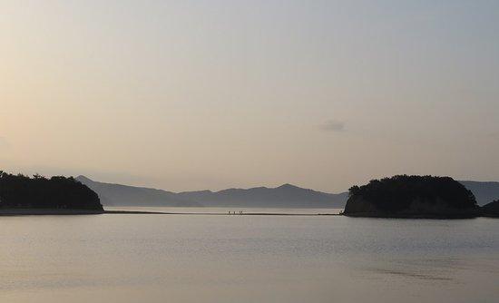 土庄町, 香川県, 早朝のエンジェルロード。