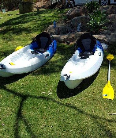 Kayaks for free use by guests