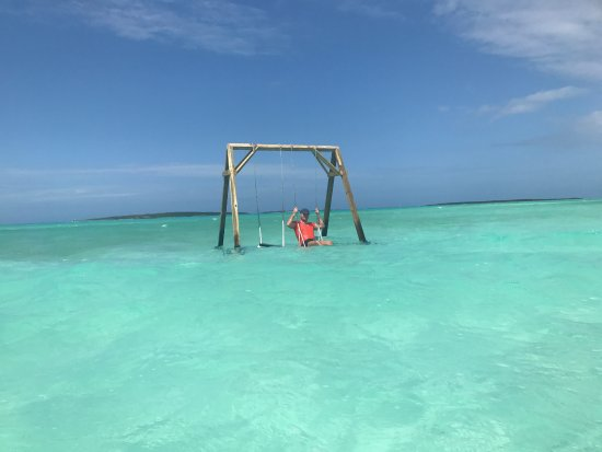 Coco Plum Beach Swings High Tide