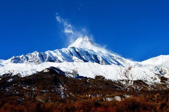 Kathmandu Valley, Nepal: An amazing Mt.Manaslu view from Sama Gaun.