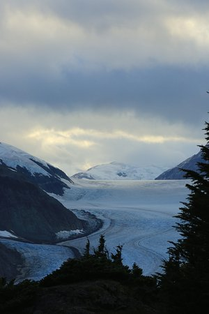 Hyder, AK: Salmon Glacier at sunset