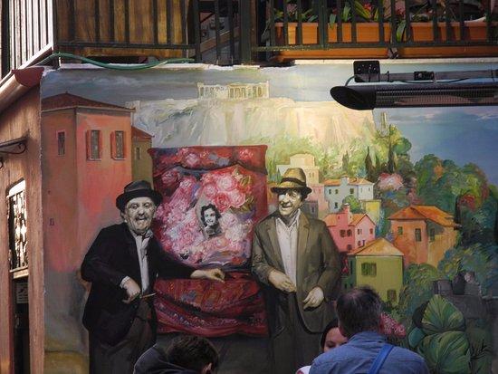 Geros Tou Moria : Väggmålning