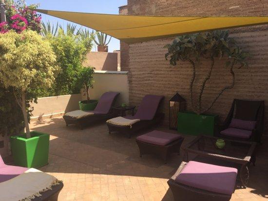 Riad Idra : The roof terrace