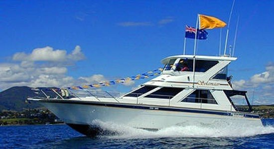 Lake Taupo's very popular fishing & Sightseeing Launch.