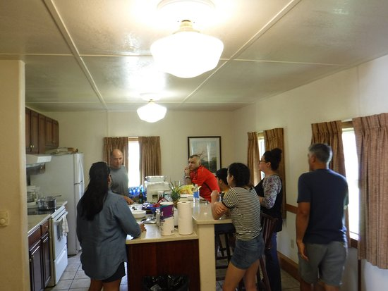 Kilauea Volcano Military Camp: We opted for one of the rooms with a kitchen to make some of our meals.