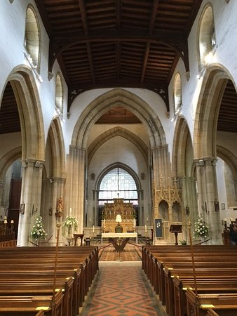 Arundel, UK: Inside of church before Easter